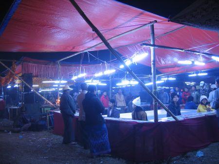 Gambling and games at the Myitkyina Manau
