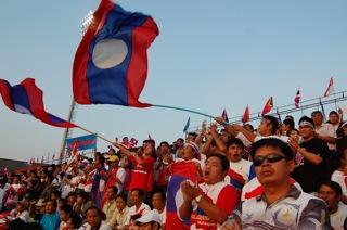 Laos crowd against Indonesia