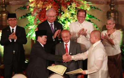 Najib and Aquino on MILF agreement