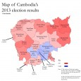 Colum Graham presents an intriguing map based on an analysis of Cambodia's 2013 election results