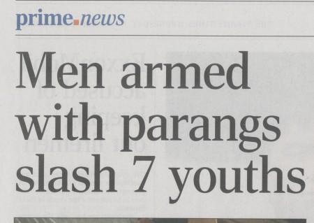 Men armed with parangs 1
