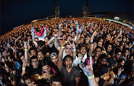 Even metal heads from mosh pits will have an impact on Singapore's 2015 elections. Photo by Jeremy Foo/ Poached Images.