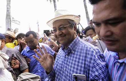Dr M attempts to hijack Berish 4. Photo: The Malaysian Insider
