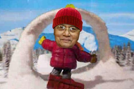 Thein Sein on ice