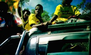 Party cadres on the campaign trail.
