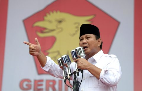 Prabowo Subianto reprises Sukarno as he campaigns during Indonesia's elections.