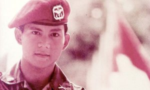A young Prabowo Subianto. Photo from Facebook.