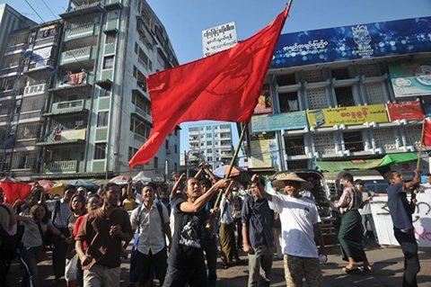 MYANMAR-PROTEST-EDUCATION-POLITICS
