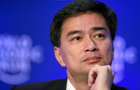 DAVOS-KLOSTERS/SWITZERLAND, 30JAN09 - Abhisit Vejjajiva, Prime Minister of Thailand, listens during the session 'Fresh Solutions for Food Security' at the Annual Meeting 2009 of the World Economic Forum in Davos, Switzerland, January 30, 2009.  Copyright by World Economic Forum    swiss-image.ch/Photo by Sebastian Derungs