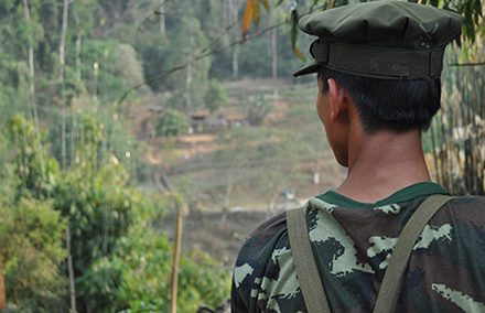 Kachin soldier. Photo by Allyson Neville-Morgan on flickr https://www.flickr.com/photos/anevillemorgan/