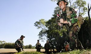 Indonesian soldiers train in Australia. Photo by Department of Defence.