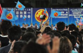Always the ballot bridesmaid: supporters of Singapore's Workers' Party at a rally. Photo by Abdul Rahman on flickr https://www.flickr.com/photos/wp-2011-rallies/