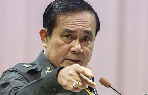 Thailand's prime minister and coup leader General Prayuth Chan-ocha. Photo: Reuters.