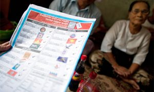 A Myanmar ballot paper. Photo: Getty Images/istockphoto.