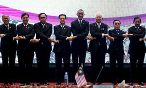 ASEAN leaders gather for a family photo with U.S. President Obama after a US-ASEAN meeting at the ASEAN Summit in Kuala Lumpur