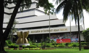 The headquarter of Association of Southeast Asia Nations (ASEAN) in Jalan Sisingamangaraja No.70A, South Jakarta, Indonesia.