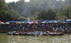 Life in Brunei is largely lived on the water, such as at the paddle-up Tamu Kianggeh Market