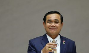 Thailand's PM Prayuth attends a luncheon organized by Keidanren, Japan Business Federation, in Tokyo