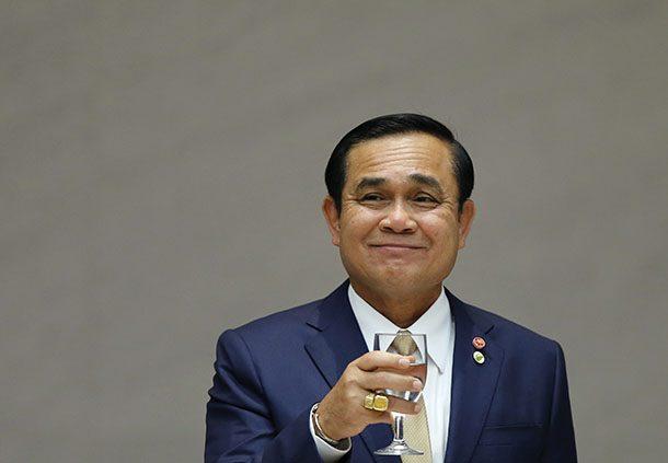 Thailand's PM Prayuth attends a luncheon organized by Keidanren, Japan Business Federation, in Tokyo